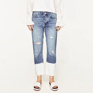 Zara Ripped Midrise Jeans Size US 2